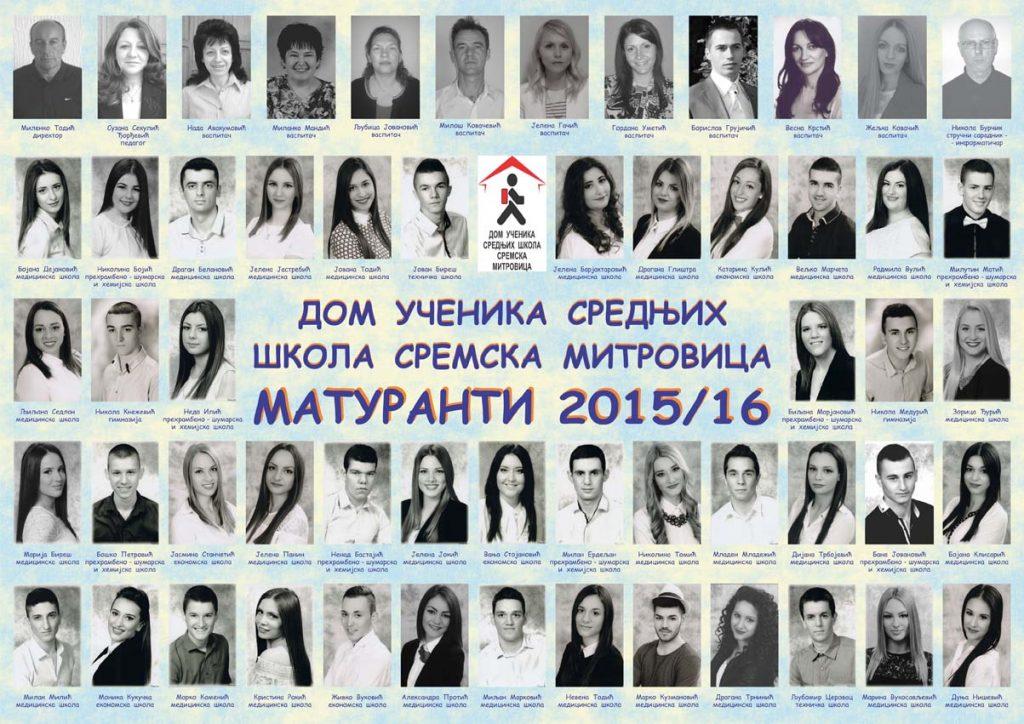 Maturantski pano 2015-16